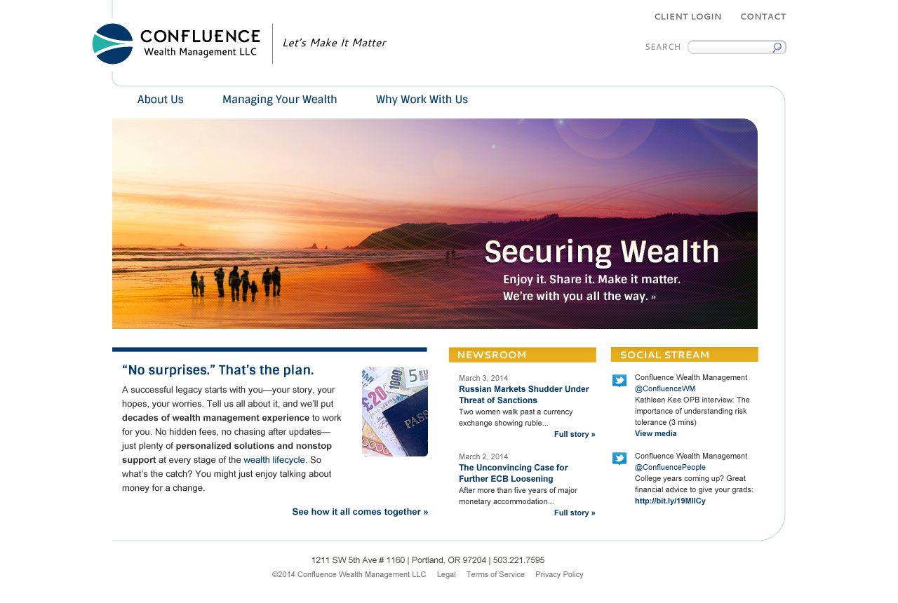 Cosmonaut - Confluence Wealth Management Web Design