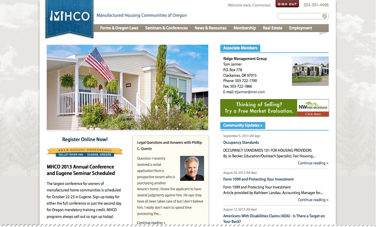 Manufactured Home Communities of Oregon (MHCO)